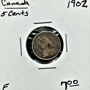 Click now to see the BUY IT NOW Price! 1902 CANADA 5 CENTS SILVER COIN KING EDWARD VII F