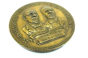 BAUSCH LOMB BRONZE MEDAL 75 YEARS OPTICAL COIN ROCHESTER NY 1852 1928 JT029