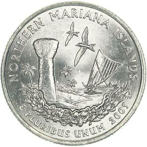 2009 P TERRITORIES QUARTER NORTHERN MARIANA ISLANDS BU CN CLAD US COIN