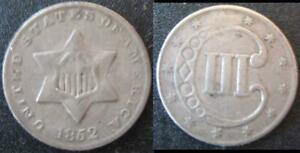 1852 THREE CENT SILVER COIN