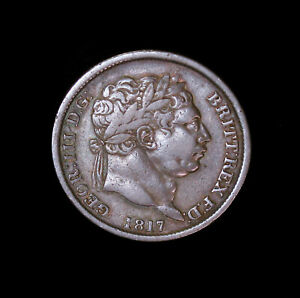 1817 GREAT BRITAIN SHILLING SILVER COIN BETTER GRADE GEORGE III