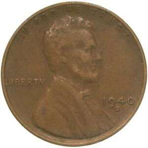 1940 S LINCOLN WHEAT CENT EXTRA FINE PENNY XF