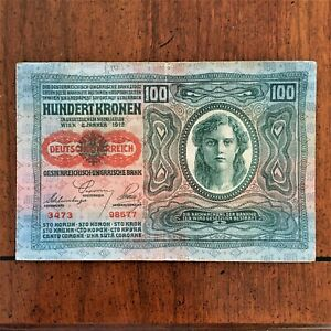 Click now to see the BUY IT NOW Price! 1912 AUSTRIA 100 KRONEN BANKNOTE OVPT12 1919  PICK 56