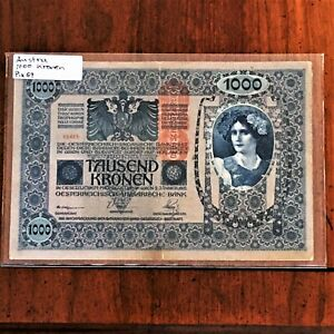 Click now to see the BUY IT NOW Price! 1902 AUSTRIA 1000 KRONEN BANKNOTE OVERPRINT  1919  PICK 59