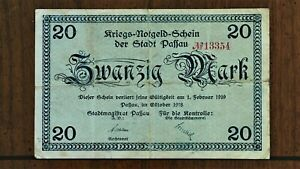 Click now to see the BUY IT NOW Price! 1919 CITY OF PAFFAU  GERMANY  20 MARK EMERGENCY WORLD WAR ONE NOTE  NOTGELD