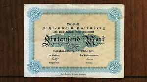 Click now to see the BUY IT NOW Price! 1922 CITY OF LICHTENFLEIN GALLENBERG  GERMANY  1000 MARK NOTE  NOTGELD  000246