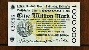 Click now to see the BUY IT NOW Price! 1923 DAHLBUSCH CO. ROTTHAUSEN DISTRICT  GERMANY  ONE MILLION MARK  NOTGELD    AU