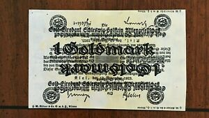 Click now to see the BUY IT NOW Price! 1923 GERMANY 1 GOLD MARK OVERPRINT BANKNOTE   GIROBANK   UNCIRCULATED