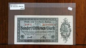 Click now to see the BUY IT NOW Price! 1923 CITY OF AACHEN GERMANY 100 MILLION MARK NOTE     STAR REPLACEMENT NOTE