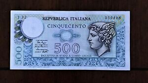 Click now to see the BUY IT NOW Price! 1979 ITALY 500 LIRE BANKNOTE PICK 94 SERIAL 059886