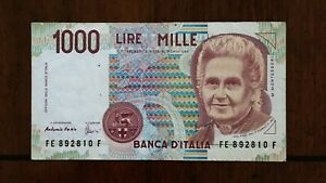Click now to see the BUY IT NOW Price! 1990 ITALY 1000 LIRE BANKNOTE PICK 114C SERIAL 892810