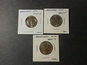 2015 AMERICA THE BEAUTIFUL QUARTERS HOMESTEAD N.M. . SET OF 3 P D S UNC COND.