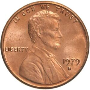 1979 D LINCOLN MEMORIAL CENT CHOICE BU PENNY US COIN