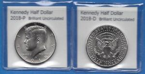 KENNEDY HALF DOLLARS: 2018 P AND 2018 D FROM MINT ROLLS