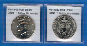 KENNEDY HALF DOLLARS: 2010 P AND 2010 D FROM MINT ROLLS
