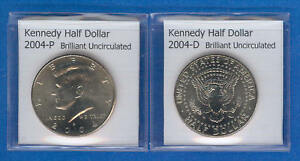 KENNEDY HALF DOLLARS: 2004 P AND 2004 D FROM MINT ROLLS