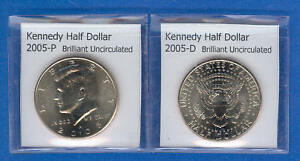 KENNEDY HALF DOLLARS: 2005 P AND 2005 D FROM MINT ROLLS