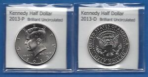 KENNEDY HALF DOLLARS: 2013 P AND 2013 D FROM MINT ROLLS