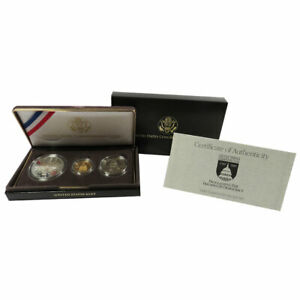 Click now to see the BUY IT NOW Price! 1989 PROOF UNITED STATES CONGRESSIONAL 3 COIN SET COMMEMORATIVE WITH BOX OGP & C