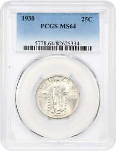 1930 25C PCGS MS64   STANDING LIBERTY QUARTER