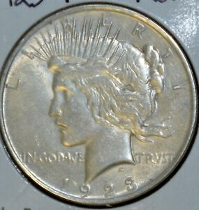 1923 P AU ALMOST UNCIRCULATED PEACE SILVER DOLLAR $1 COIN