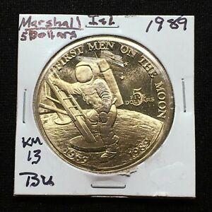 Click now to see the BUY IT NOW Price! 1989 MARSHALL ISLANDS 5 DOLLAR 20TH ANNIVERSARY FIRST MEN ON THE MOON KM 13 BU
