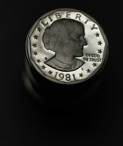 UNC ROLL 1981 S TYPE 2 II PROOF SUSAN B ANTHONY DOLLARS 20 ERROR COINS FREE SHIP