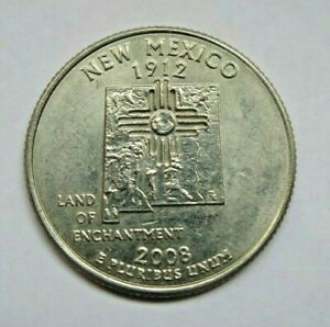 USA 2008D NEW MEXICO STATE QUARTER 25 CENT COIN