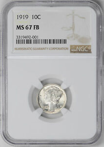 Click now to see the BUY IT NOW Price! 1919 MERCURY 10C NGC MS 67 FB