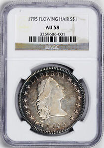 Click now to see the BUY IT NOW Price! 1795 FLOWING HAIR $1 NGC AU 58