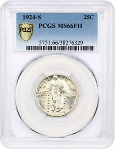 Click now to see the BUY IT NOW Price! 1924 S 25C PCGS MS66 FH   KEY DATE   STANDING LIBERTY QUARTER   KEY DATE
