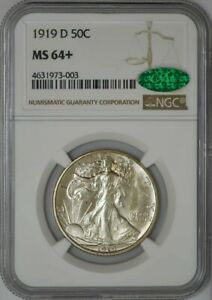 Click now to see the BUY IT NOW Price! 1919 WALKING LIBERTY HALF 50C MS64  NGC   CAC 942176 12