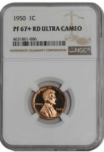 1950 LINCOLN CENT 1C PF67  RD ULTRA CAMEO NGC 941496 3