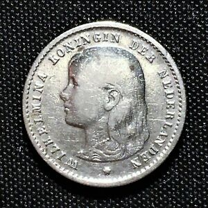 Click now to see the BUY IT NOW Price! 1895 NETHERLANDS 10 CENTS SILVER KM 116 VF   FINE