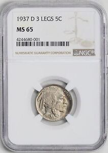 Click now to see the BUY IT NOW Price! 1937 D BUFFALO 5C NGC MS 65