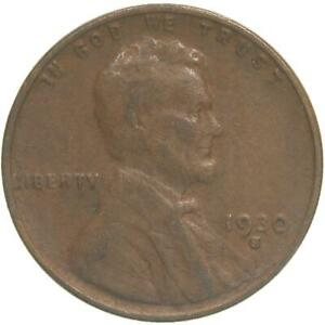 1930 S LINCOLN WHEAT CENT GOOD PENNY VG