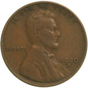 1930 S LINCOLN WHEAT CENT FINE PENNY FN