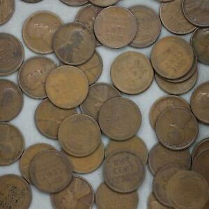 1918 D LINCOLN WHEAT CENT ROLL 50 CIRCULATED PENNIES US COINS