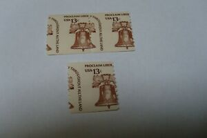 ERROR 1618 M/NH U. S. COIL STAMPS
