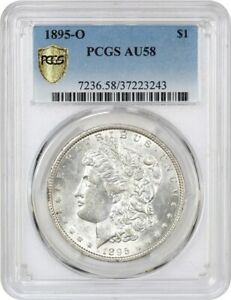 1895 O $1 PCGS AU58   KEY DATE FROM NEW ORLEANS   MORGAN SILVER DOLLAR