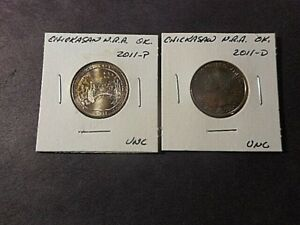2 2011 AMERICA THE BEAUTIFUL QUARTERS  D&P  CHICKSAW N.R.A. IN UNC. COND.