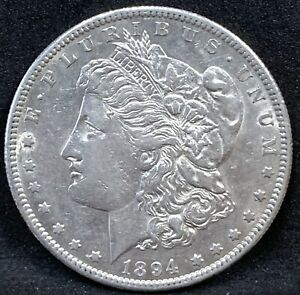 1894 S MORGAN SILVER DOLLAR AU DETAILS SAN FRANCISCO MINT COIN BETTER DATE