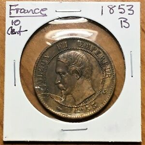 Click now to see the BUY IT NOW Price! 1853 B FRANCE 10 CENTIMES COIN NAPOLEON III DIX CENTIMES HIGH GRADE