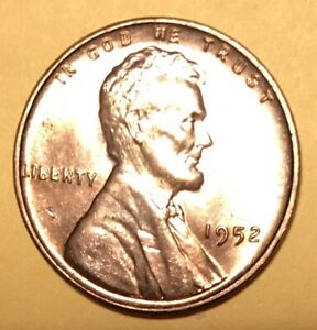 1952 1952 D  1952 S   LINCOLN WHEAT CENTS  UNCIRCULATED RED THAT LOOK CHOICE MS