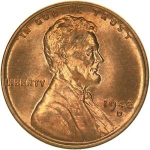 1942 D LINCOLN WHEAT CENT BU PENNY US COIN