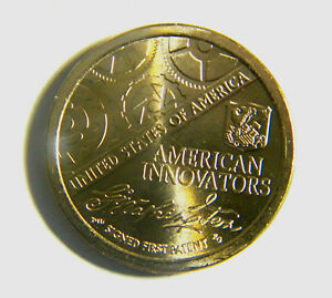 2018 D&P FIRST ISSUE AMERICAN INNOVATION DOLLAR 2 COINS SIGNED FIRST PATENT US