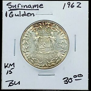 Click now to see the BUY IT NOW Price! SURINAME 1962 1 GULDEN