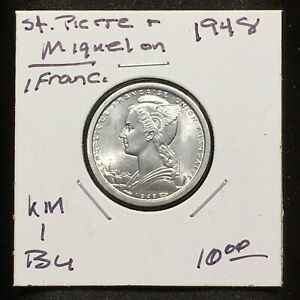 Click now to see the BUY IT NOW Price! SAINT PIERRE & MIQUELON 1948 1 FRANC