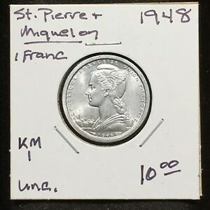 Click now to see the BUY IT NOW Price! SAINT PIERRE & MIQUELON 1948 FRANC