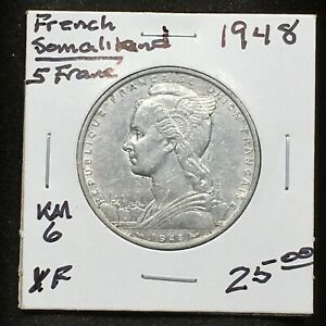 Click now to see the BUY IT NOW Price! FRENCH SOMALILAND 1948 5 FRANCS